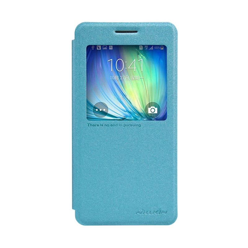 Nillkin Original Sparkle Leather Flip Cover Casing for Samsung Galaxy A5 - Blue