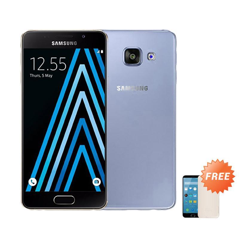 Ultrathin Casing for Samsung Galaxy A3 2016 or SM-A310F - Blue Clear + Free Ultra thin