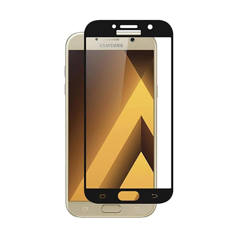 Tempered Glass [3D] Full Cover Screen Protector for Samsung Galaxy J2 Prime - Black Full Layar