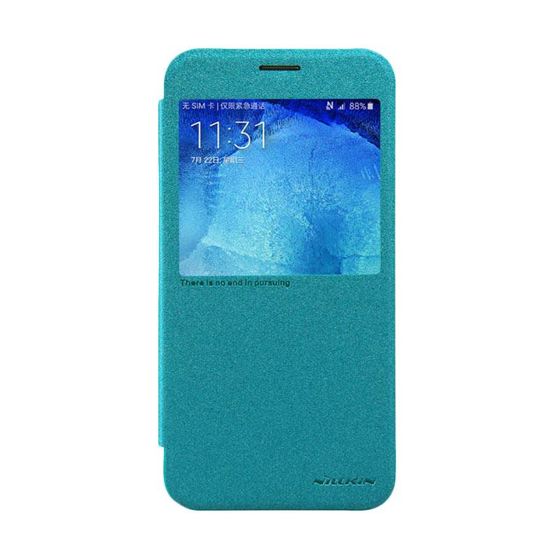 Nillkin Original Sparkle Leather Flip Cover Casing for Samsung Galaxy A8 - Blue