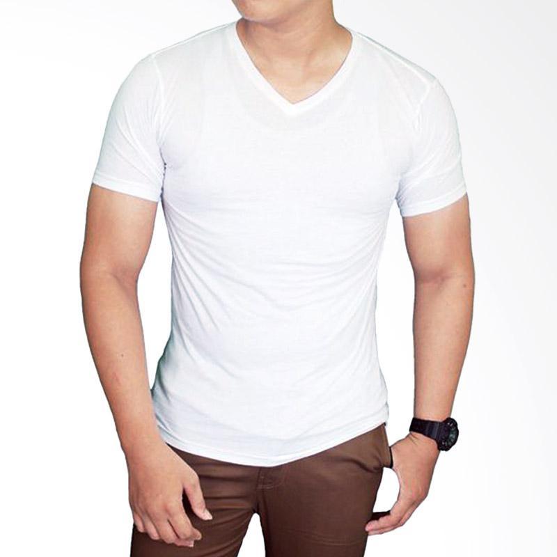 Gudang Fashion FP 523 T-Shirt Polos Basic Vneck Lengan Pendek Spandex - White Extra diskon 7% setiap hari Extra diskon 5% setiap hari Citibank – lebih hemat 10%