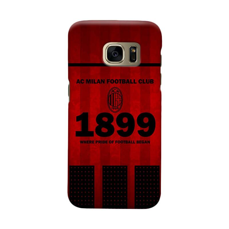 Indocustomcase AC Milan ACM08 Cover Casing for Samsung Galaxy S7 Edge