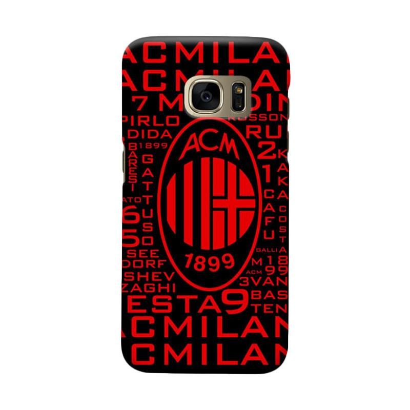 Indocustomcase AC Milan ACM09 Cover Casing for Samsung Galaxy S6 Edge