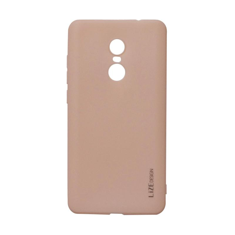 Lize Design Softshell Color Matte Softcase Casing for Xiaomi Redmi Note 4x - Peach