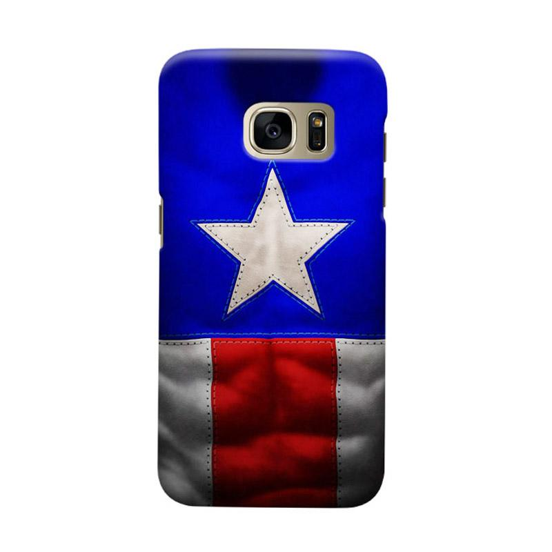 Indocustomcase Captain America CAS03 Cover Casing for Samsung Galaxy S7