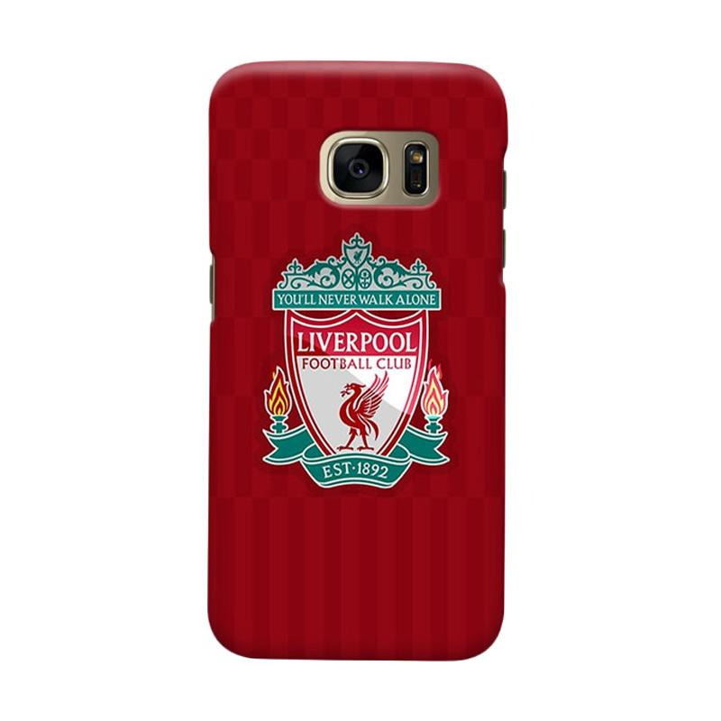 Indocustomcase Liverpool Logo LFC08 Casing for Samsung Galaxy S6 Edge