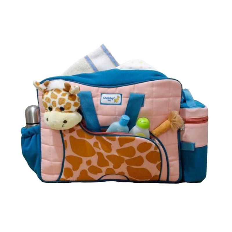 harga Snobby TPT 1577 Tas Bayi Besar Saku Aplikasi Boneka + TBSD Giraffe Series - Toska
