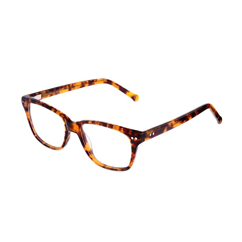 Franc Nobel 041507 Unisex Allegro Hessonite Tortoise Kacamata - Light Tortoise