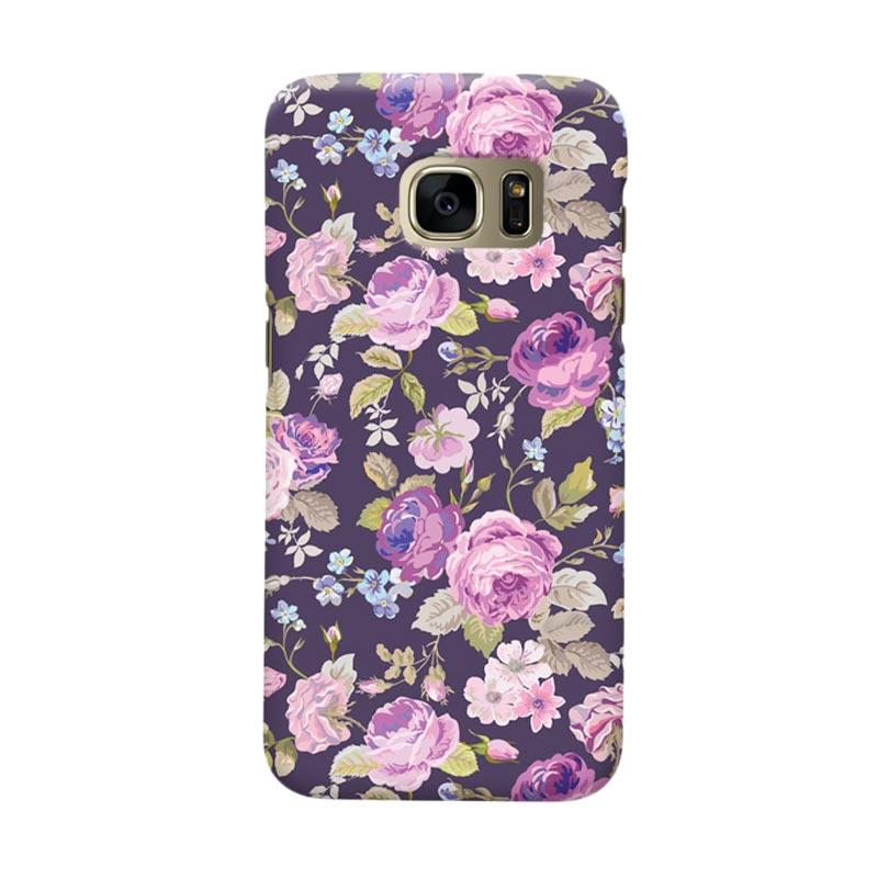 Indocustomcase Floral Rose Pink Cover Casing for Samsung Galaxy S6