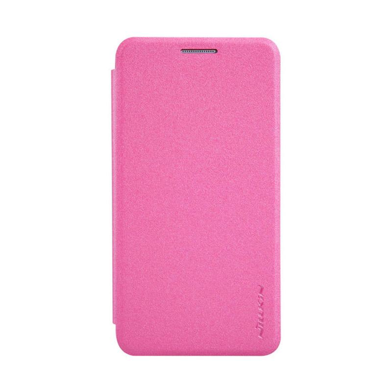 Nillkin Original Sparkle Leather Flip Cover Casing for Samsung Galaxy A3 - Pink