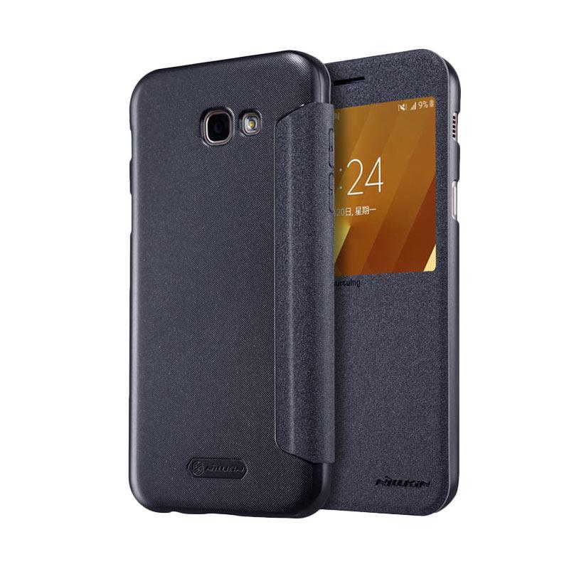 Nillkin Original Sparkle Leather Flip Cover Casing for Samsung Galaxy A3 2017 - Black