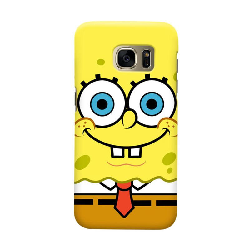 Indocustomcase Spongebob Cover Hardcase Casing for Samsung Galaxy S7 Edge Colorful