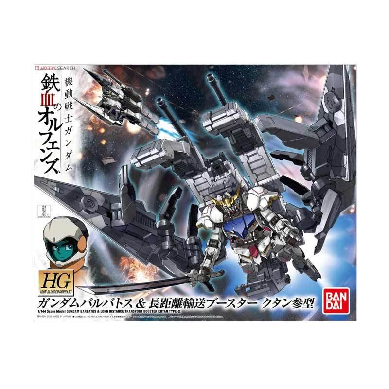 Bandai HG IBO Gundam Barbatos and Long Distance Transport Booster Kutan Model Kit [1:144]