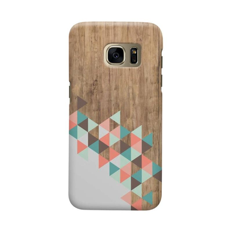 Indocustomcase Archi Wood Cover Casing for Samsung Galaxy S6 Edge