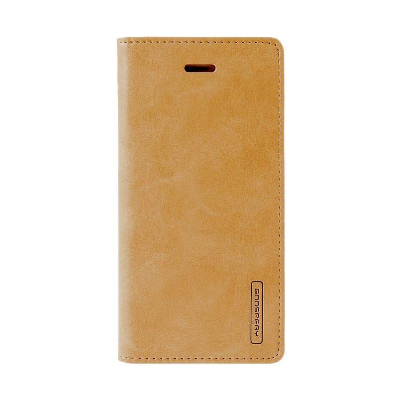 Mercury Goospery Bluemoon Flip Cover Casing for Samsung Galaxy J1 Ace - Gold