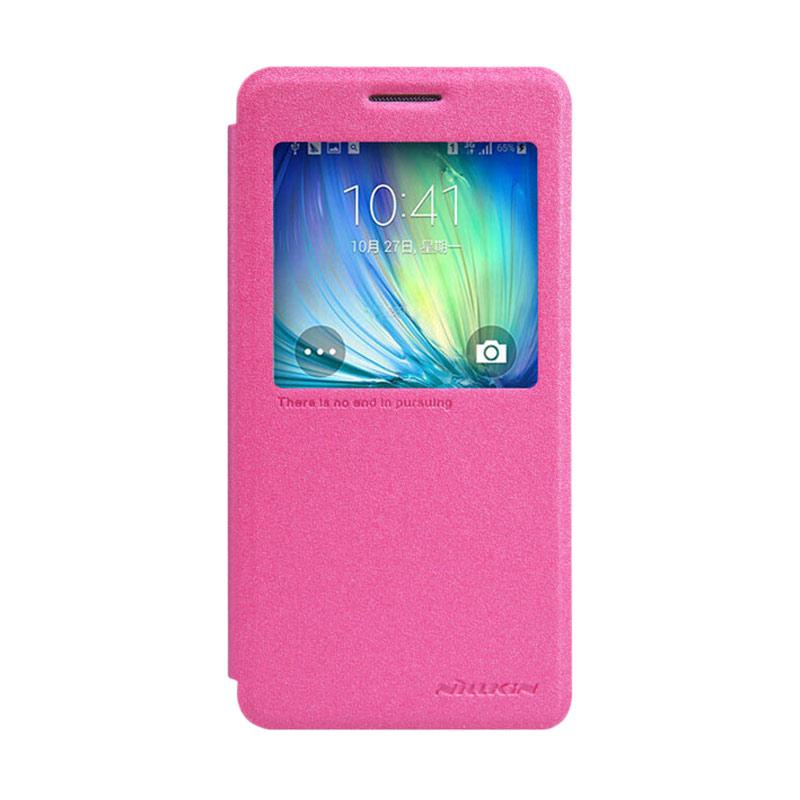 Nillkin Original Sparkle Leather Flip Cover Casing for Samsung Galaxy A5 - Pink