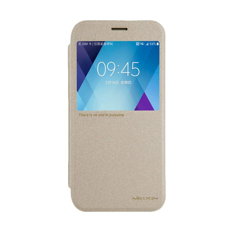 Nillkin Original Sparkle Leather Flip Cover Casing for Samsung Galaxy A5 2017 - Gold