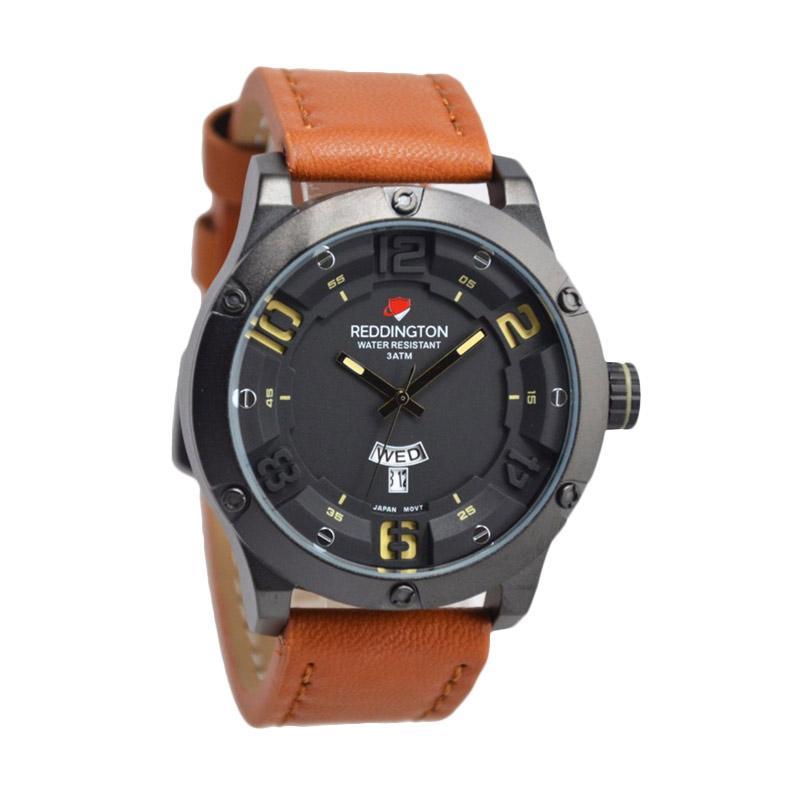 Reddington Warren Buffet D46H160RD3035MCKTM Daydate Leather Strap Jam Tangan Pria