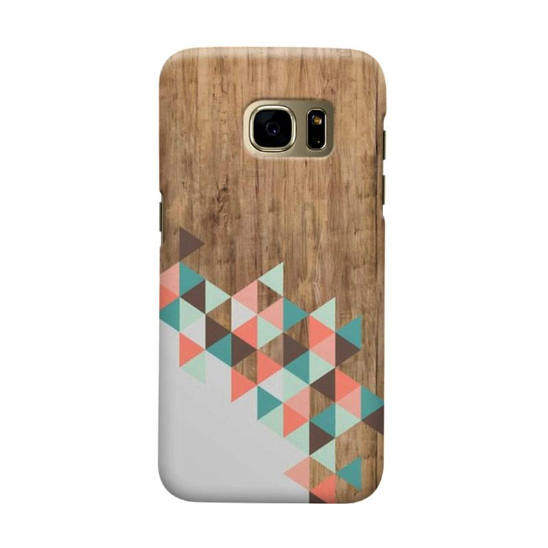 Indocustomcase Archi Wood Cover Casing for Samsung Galaxy S7 Edge