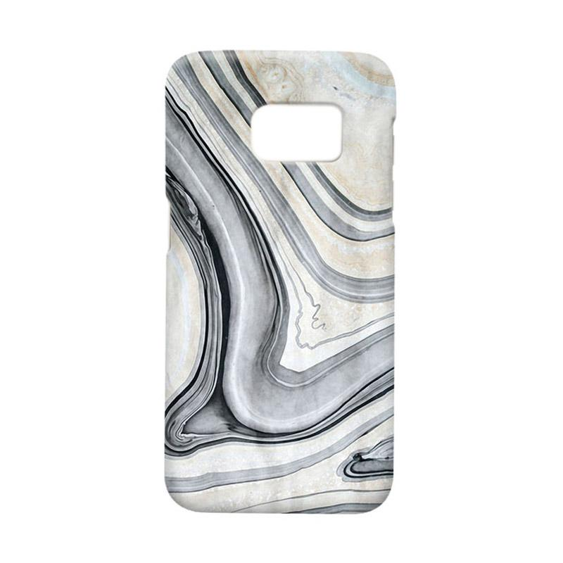 Indocustomcase Real Marble Casing for Samsung Galaxy S7 Edge