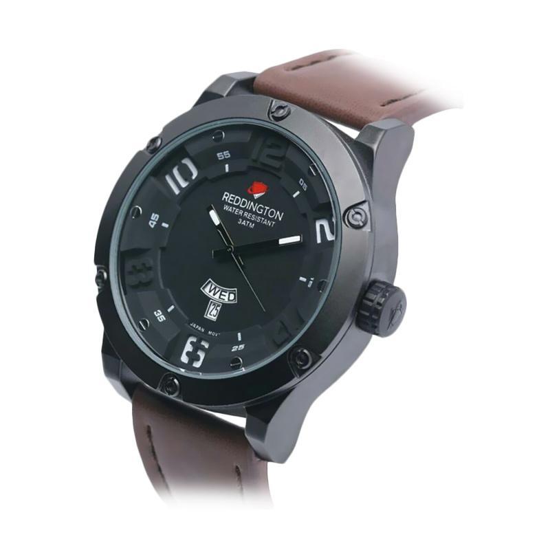 Reddington Warren Buffet D46H160RD3035MCKTP Daydate Leather Strap Jam Tangan Pria