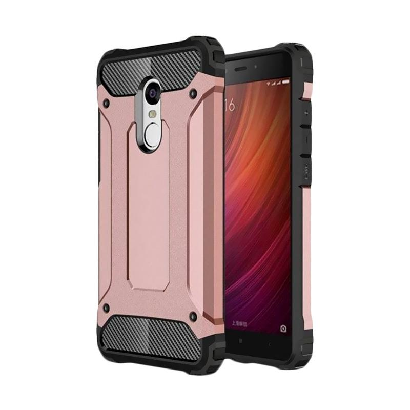 OEM Transformers Iron Robot Hardcase Casing for Xiaomi Redmi Note 3 - Rose Gold
