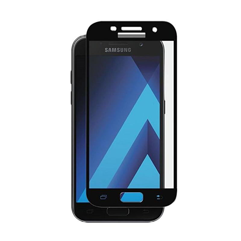 Tempered Glass Full Cover [3D]Screen Protector for Samsung Galaxy A3 2017 A320 - List Black Full Layar