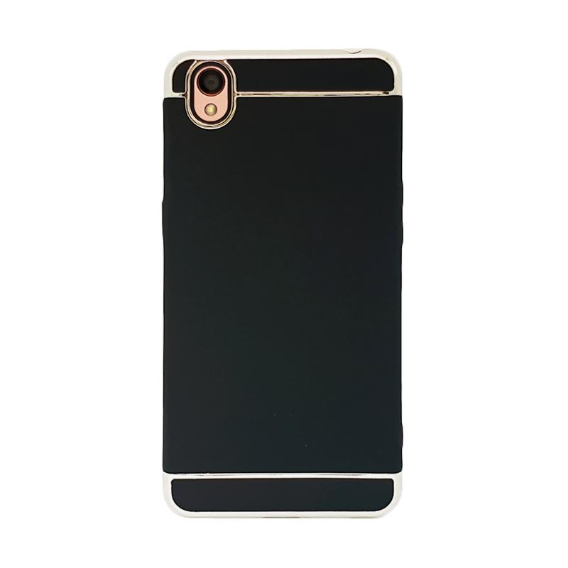 OEM Case 3 in 1 Plated PC Frame Bumper with Frosted Hardcase Casing for Oppo Neo 9 or A37 - Black