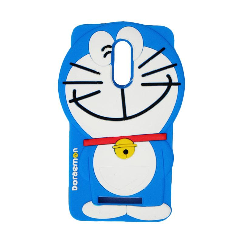 VR Karakter 3D Doraemon Edition Silicone Softcase Casing for Xiaomi Redmi Note 3 - Blue