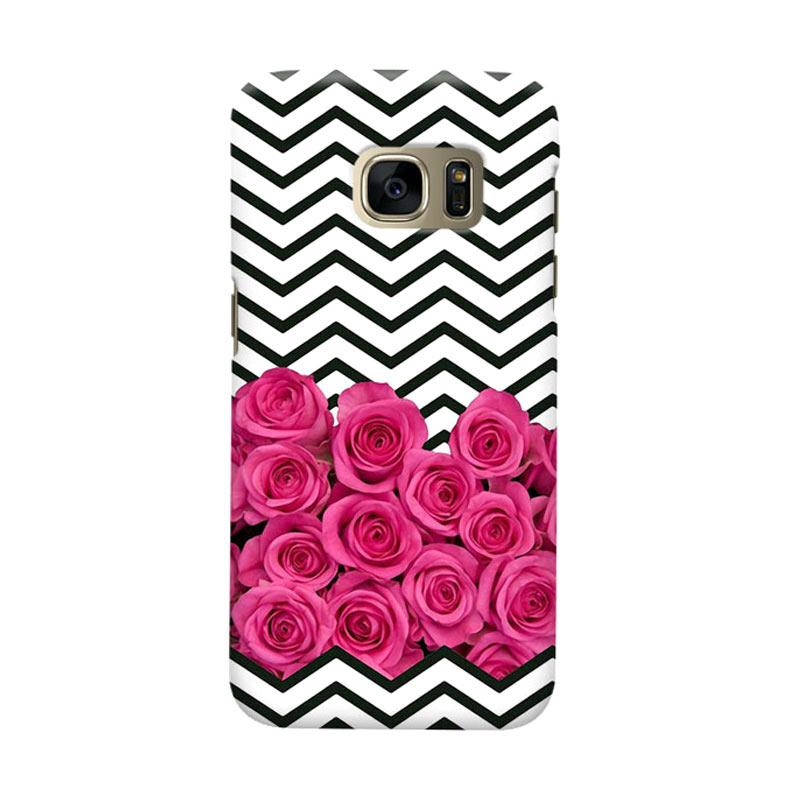 Indocustomcase Chevron Rose Cover Casing for Samsung Galaxy S6