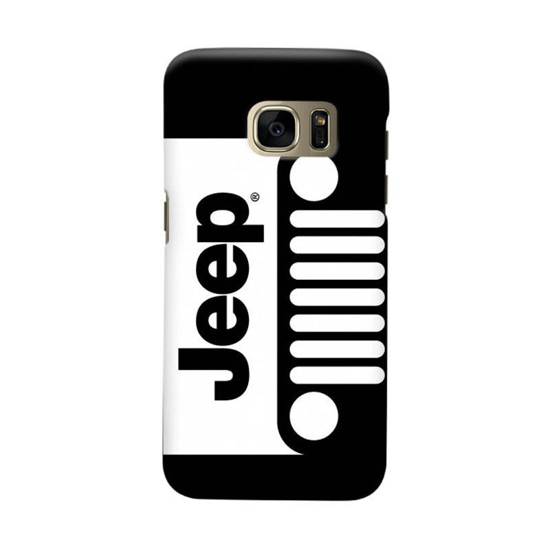 Indocustomcase Black White Cover Casing for Samsung Galaxy S6 Edge