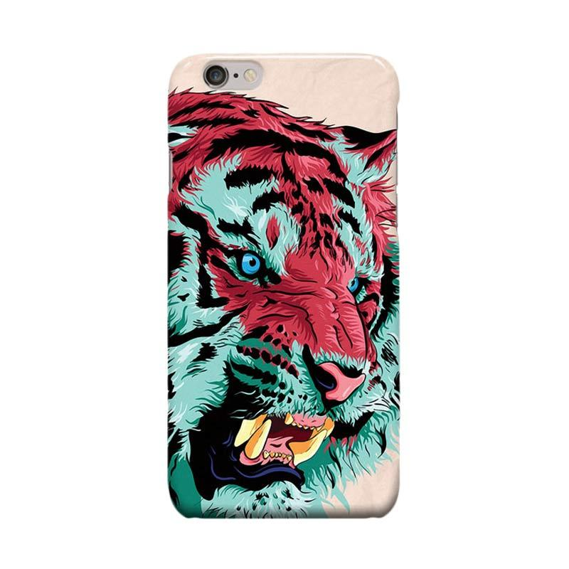 Indocustomcase Tiger Cover Casing for Apple iPhone 6 Plus or 6S Plus
