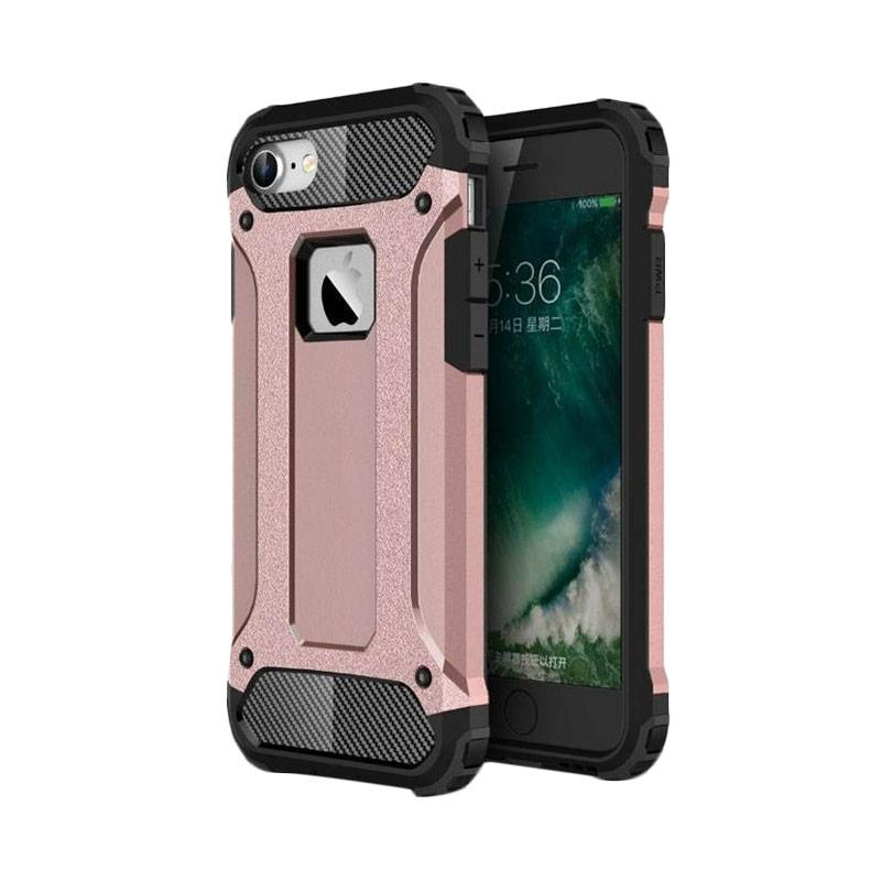 OEM Transformers Iron Robot Hardcase Casing for iPhone 6 Plus 5.5 Inch - Rose Gold