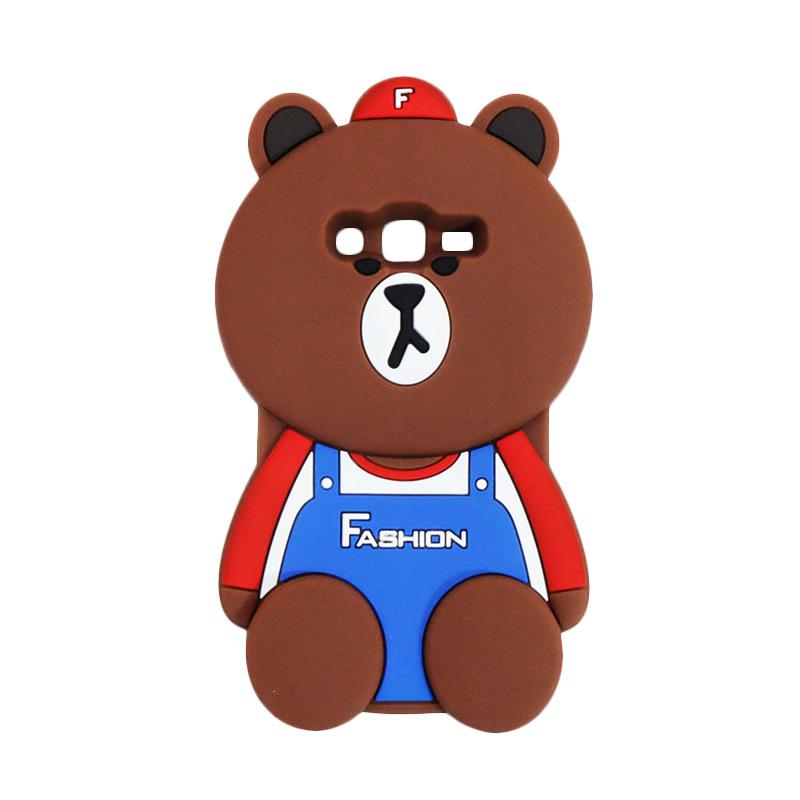 VR 3D Bear Fashion Edition Silicon Softcase Casing for Samsung Galaxy Grand 2 G7106 - Brown