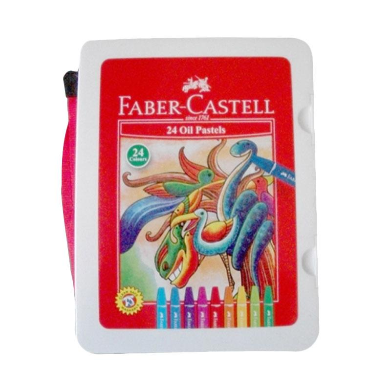 Faber Castell Crayon Hexagonal Oil Pastel with Plastic Bag - White [24 Colours]