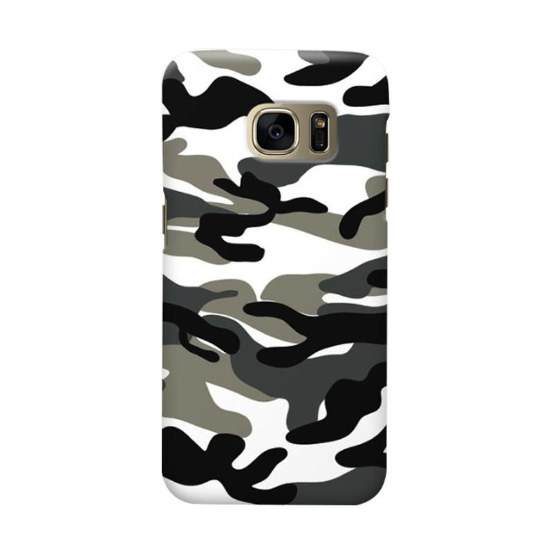 Indocustomcase Army Grey Cover Casing for Samsung Galaxy S7 Edge