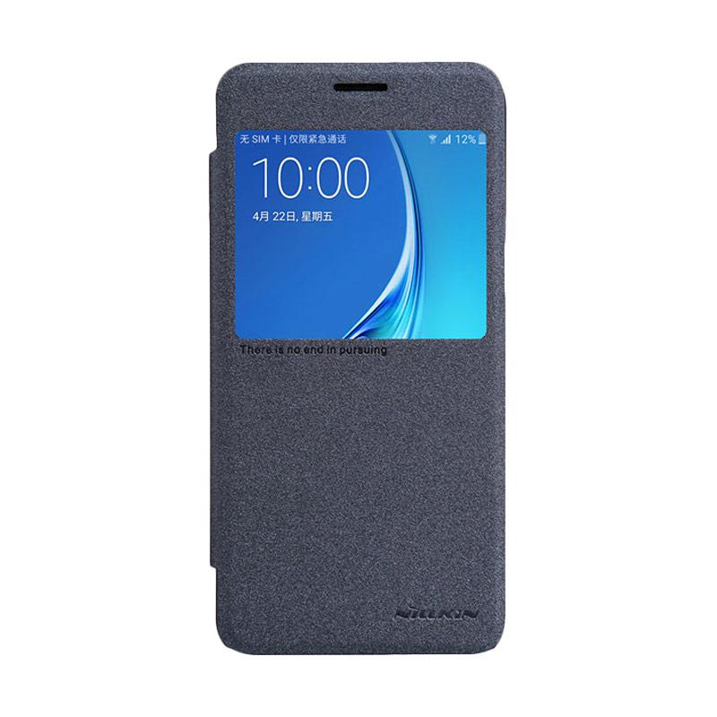 Nillkin Original Sparkle Leather Flip Cover Casing for Samsung Galaxy J5 2016 - Black