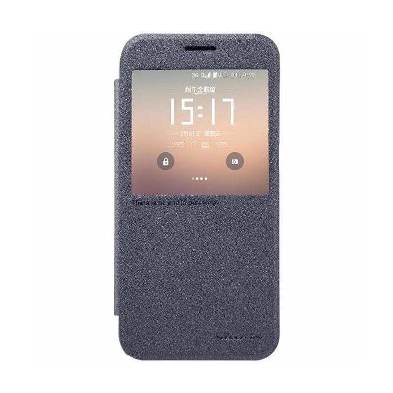 Nillkin Original Sparkle Leather Flip Cover Casing for Samsung Galaxy S7 - Black