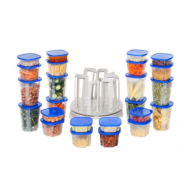 Tokokadounik Home Spin and Store Food Container Set Toples [49 pcs]