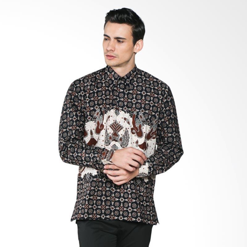 Batik Pria Tampan Delima Naga Swait PKMPJ-04081664P Men Long Sleeve Shirt - Teak