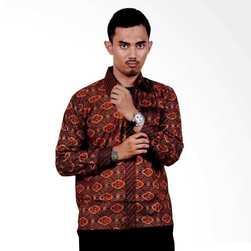 harga Batik Putri Ayu Solo KPJ15-model A Sogan Lengan Panjang Kemeja Batik Blibli.com