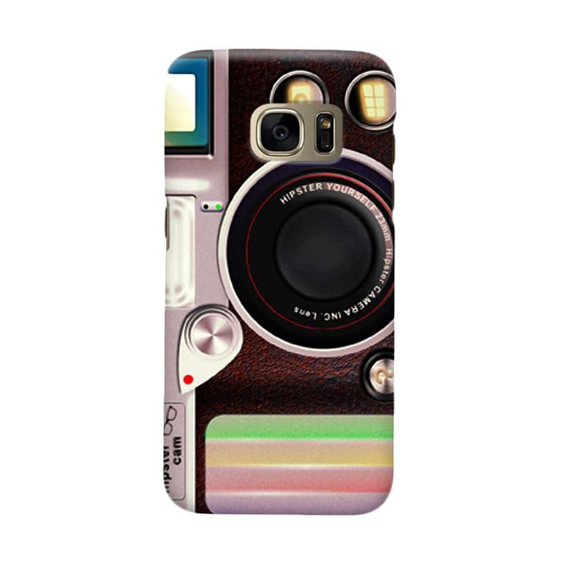 Indocustomcase Lomo Camera Cover Casing for Samsung Galaxy S6 Edge