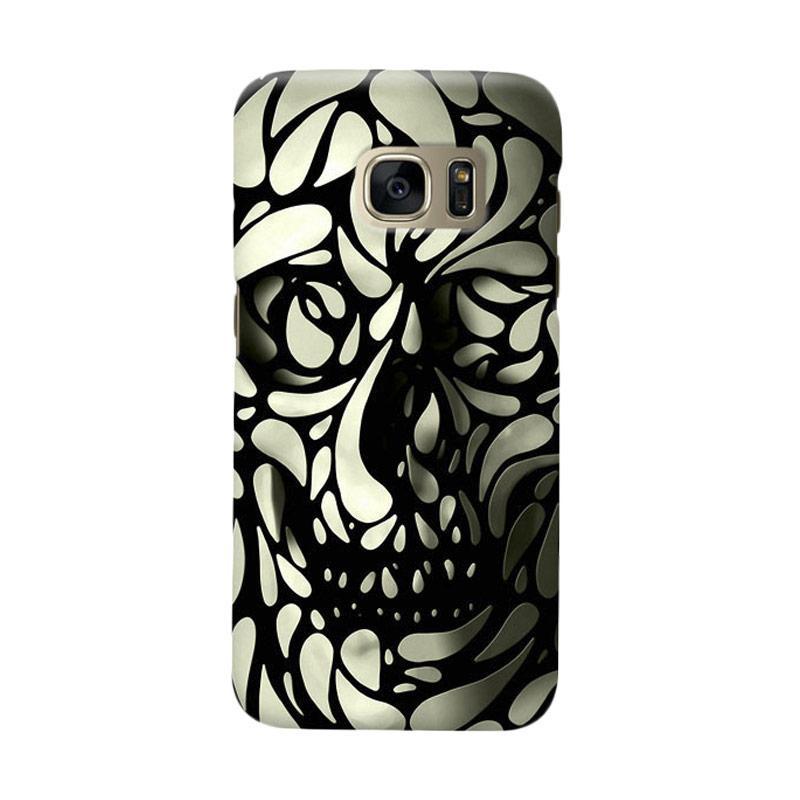 Indocustomcase Skull Art Casing for Samsung Galaxy S6 Edge