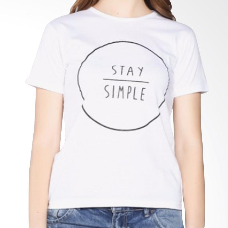 ELLIPSES INC Tumblr Tee Lengan Pendek Stay simple T-Shirt Wanita - Putih. Brand: ELLIPSES INC. Belum ada ulasan