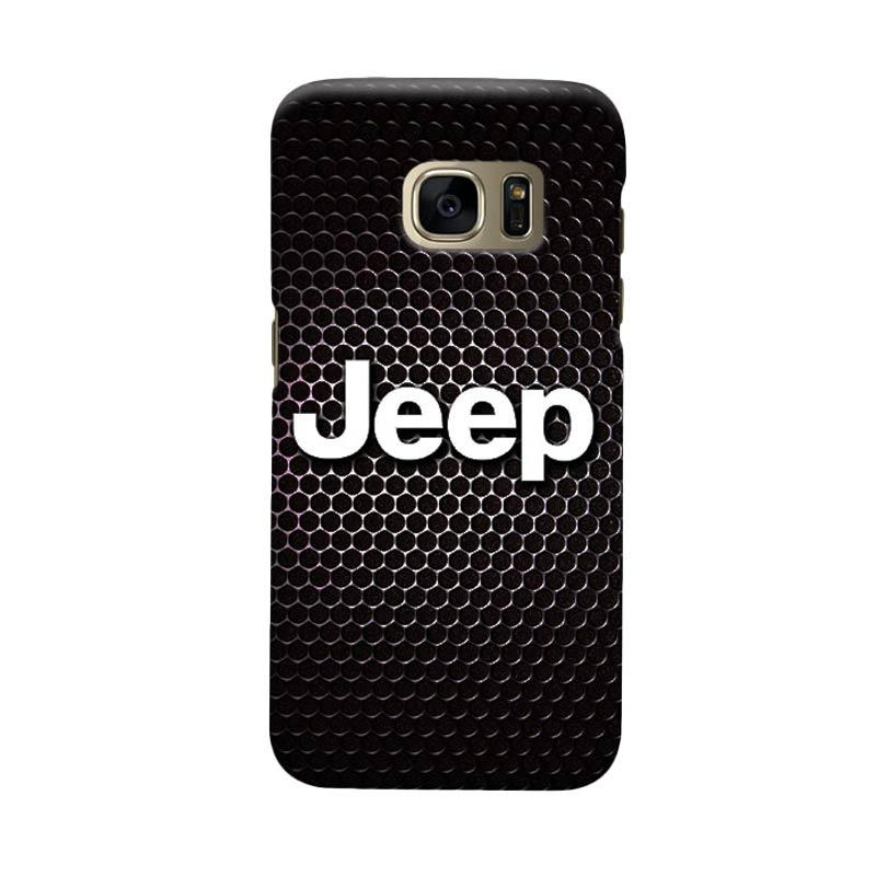 Indocustomcase Jeep On Carboon Cover Casing for Samsung Galaxy S7 Edge