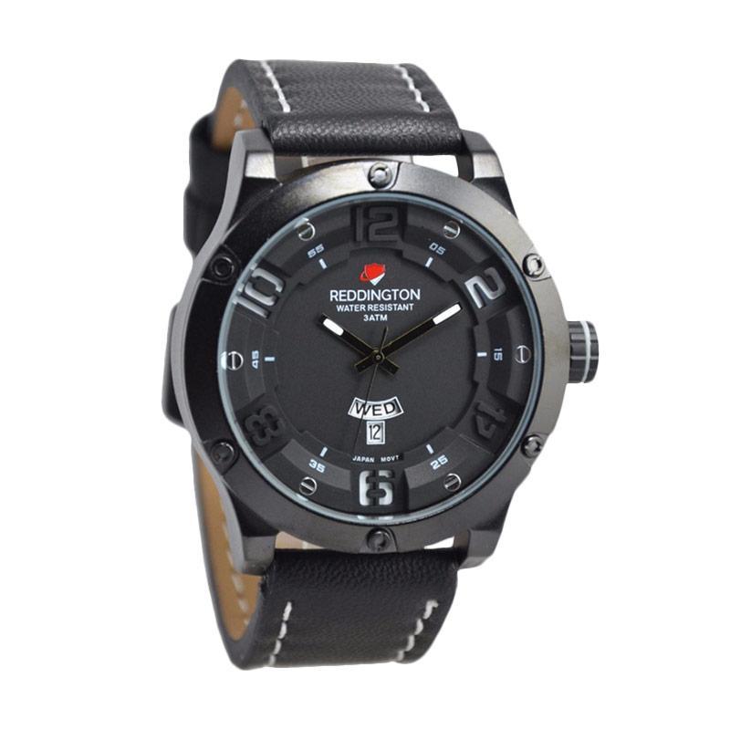 Reddington Warren Buffet D46H160RD3035MHTMP Daydate Leather Strap Jam Tangan Pria
