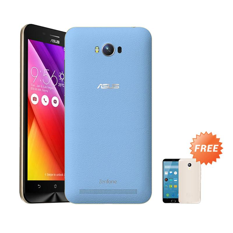 Ultrathin Aircase Casing for Asus Zenmax ZC550KL + Free Ultra thin - Blue Clear [Best Seller]