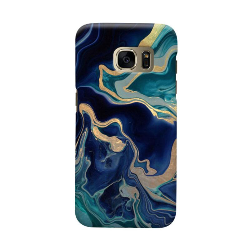 Indocustomcase Marble Drama Casing for Samsung Galaxy S7 Edge