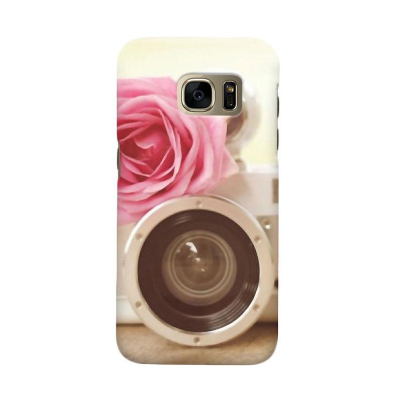 Indocustomcase Rose Camera Casing for Samsung Galaxy S6 Edge