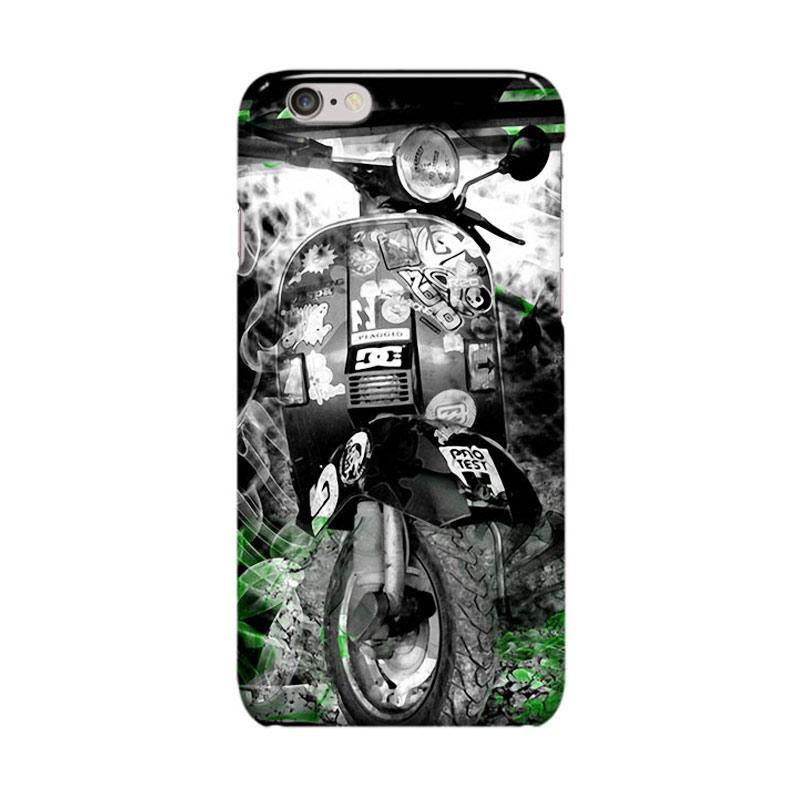 Indocustomcase Vespa Cover Casing for Apple iPhone 6 Plus or 6S Plus
